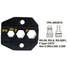 Матрица для коаксиальных кабелей ProsKit 1PK-3003D10